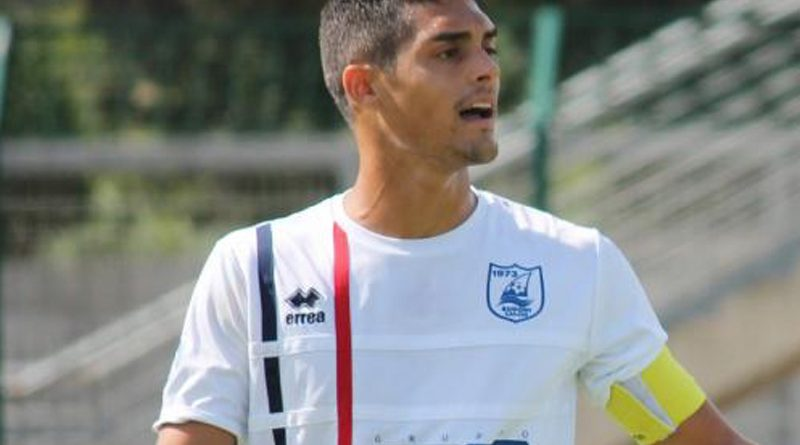 Il difensore centrale Marco Farris alla Nuorese
